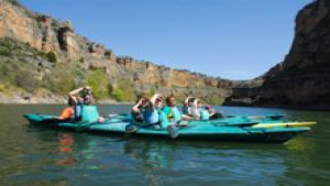 canoing inthe natural park hoces del duraton in segovia